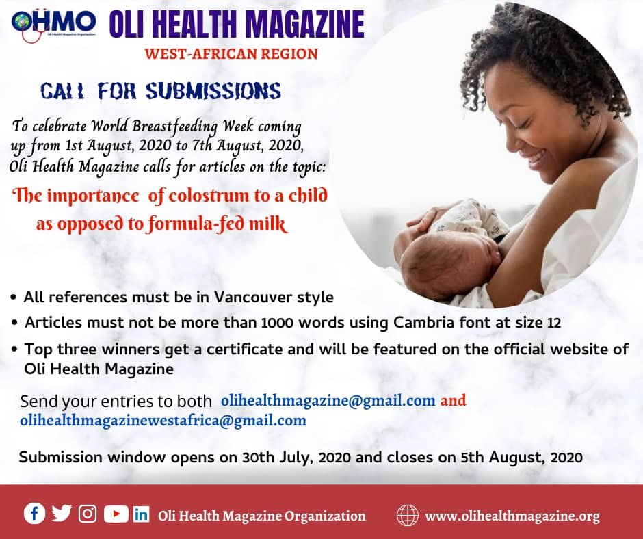 OLI HEALTH MAGAZINE WEST AFRICA REGION CALL FOR SUBMISSIONS