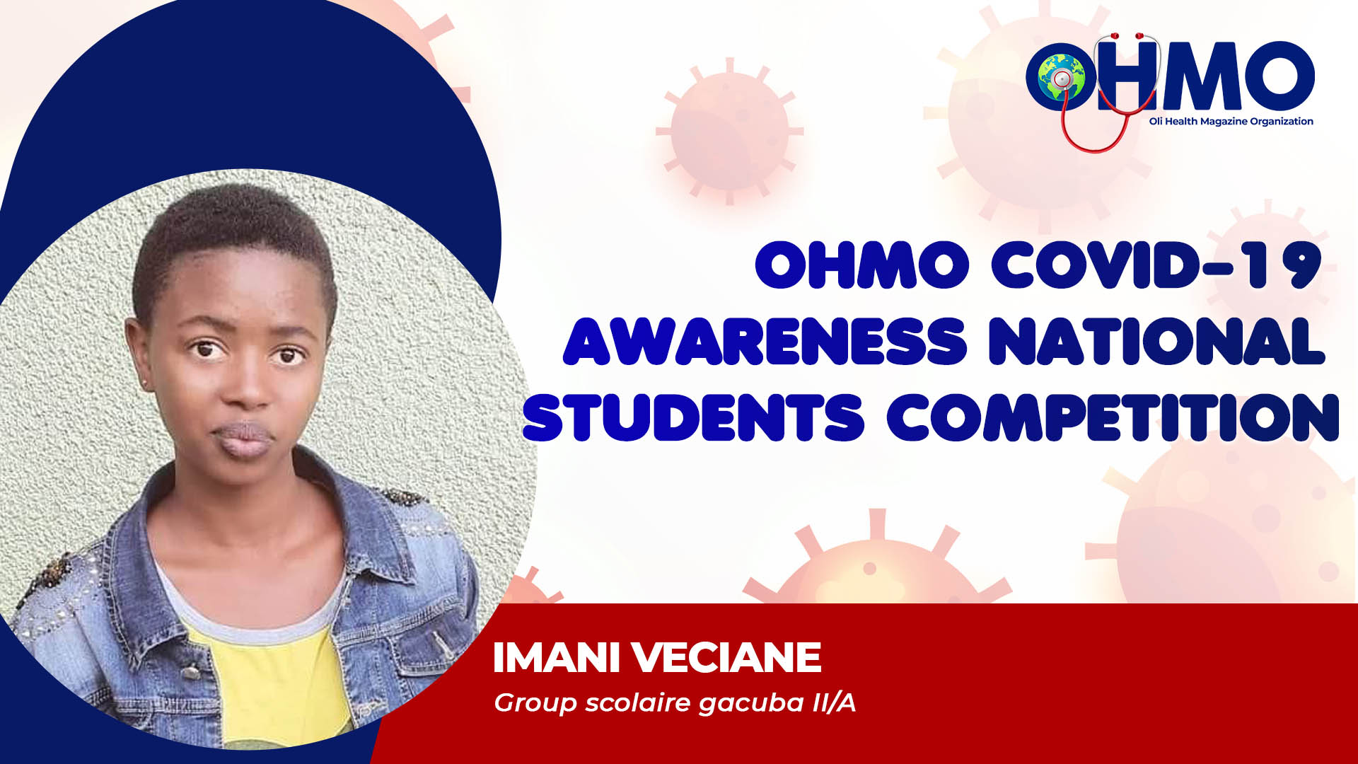 COVID19 Awareness - IMANI Veciane from Group scolaire de gacuba II/A (ENTRY 57)