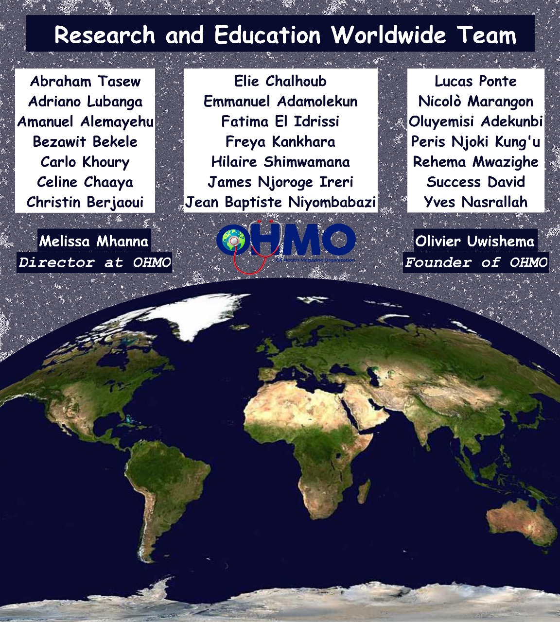 Selected Candidates for OHMO Volunteers